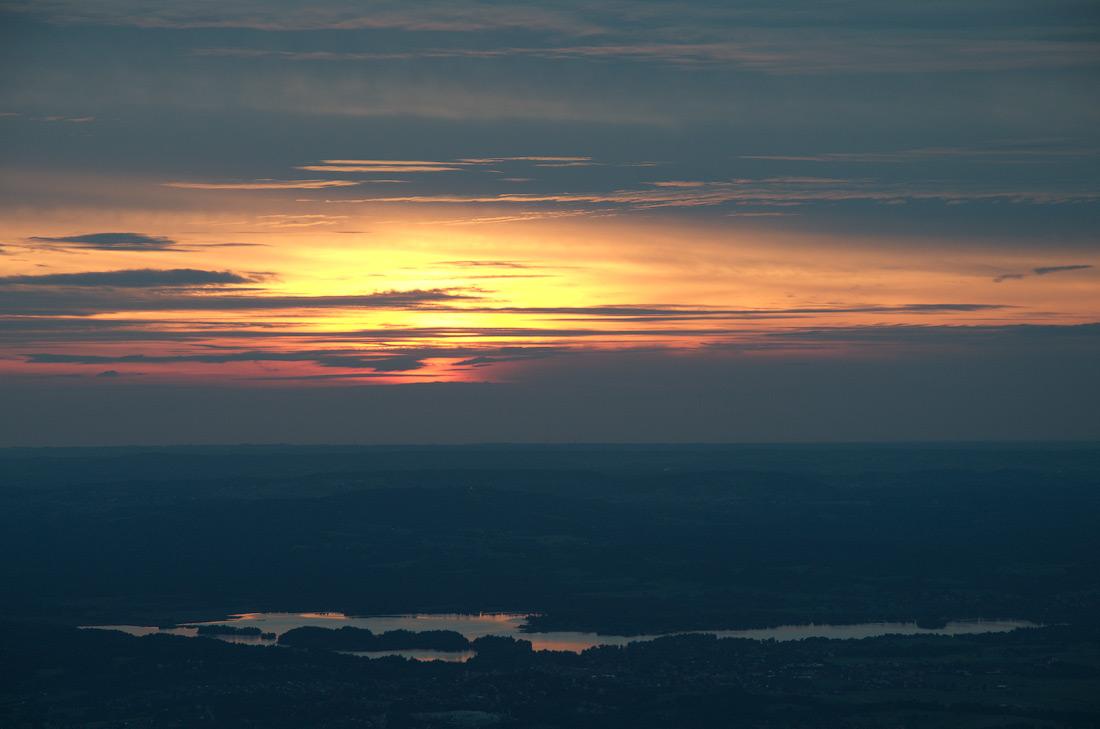 Staffelsee при заході Сонця. Баварія, Німеччина © 2016 Alex Nedovizii
