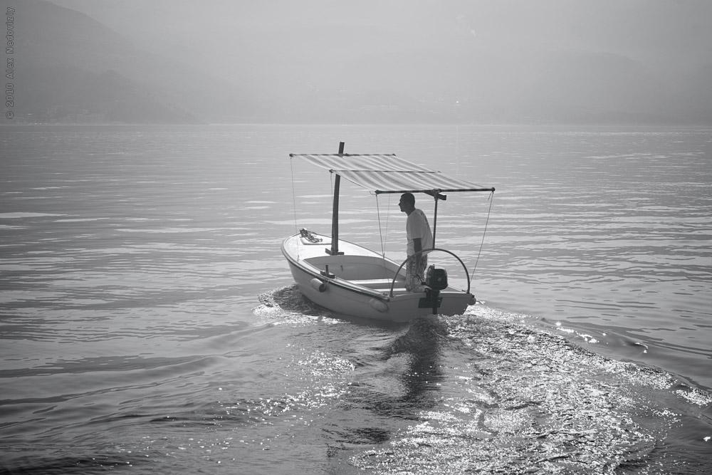 Taxi boat. Budva, Montenegro © 2010 Alex Nedoviziy